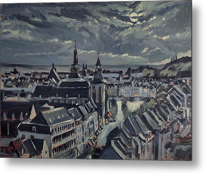 Maastricht By Moon Light Metal Print