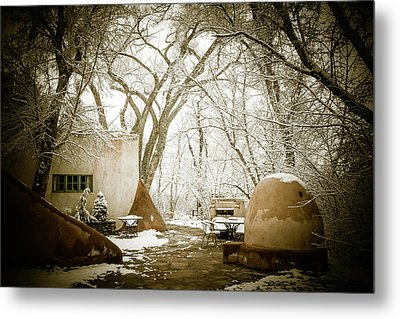 Metal Print featuring the photograph Mabel Luhan Dodge Home Exterior by Marilyn Hunt
