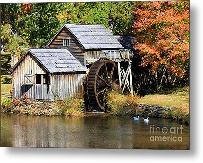 Mabry Mill Metal Print by Lena Auxier