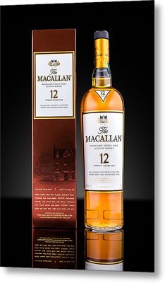 Macallan Single Malt Whisky Metal Print by Mihai Andritoiu