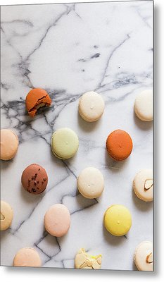 Macaron Pattern Metal Print by Happy Home Artistry