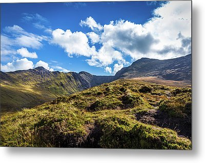 Metal Print featuring the photograph Macgillycuddy's Reeks And Valleys In Kerry In Ireland  by Semmick Photo
