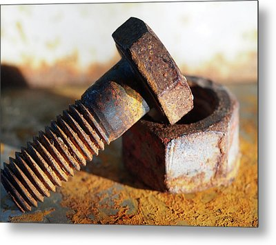 Metal Print featuring the photograph Machine Bolt by Tom Druin