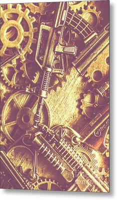 Machine Guns Metal Print