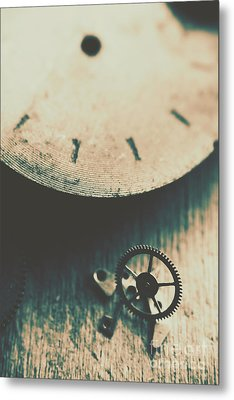 Machine Time Metal Print