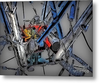 Machinery 4 Metal Print by Walt Foegelle