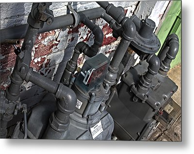 Machinery Metal Print
