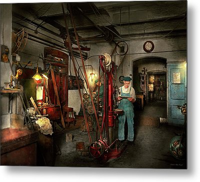 Metal Print featuring the photograph Machinist - Government Approved 1919 by Mike Savad