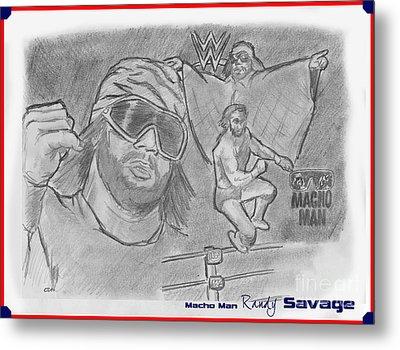 Macho Man Randy Savage Metal Print by Chris  DelVecchio