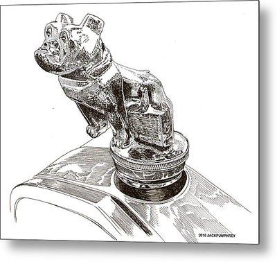 Mack Truck Bulldog Mascot Metal Print