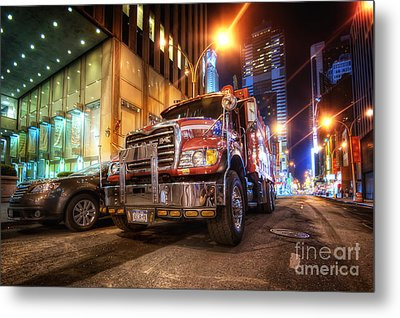 Mack Truck Nyc Metal Print by Yhun Suarez