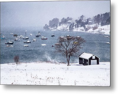 Mackerel Cove Snow Metal Print