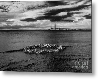 Mackinac Bridge - Infrared 03 Metal Print