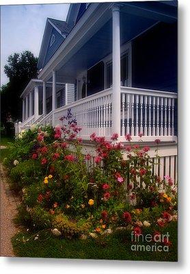 Mackinac Island Victorian Wildflower Garden Metal Print