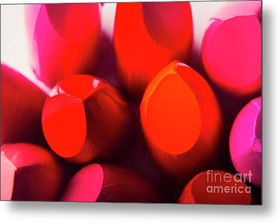Macro Cosmetic Art Metal Print