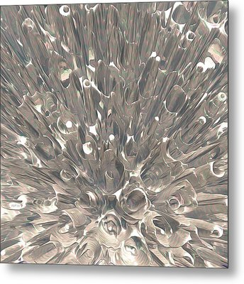 Macro Fractal Abstract Metal Print