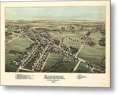 Macungie Pennsylvania Birdseye Print Metal Print