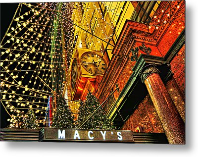 Macy's Christmas Lights Metal Print by Randy Aveille