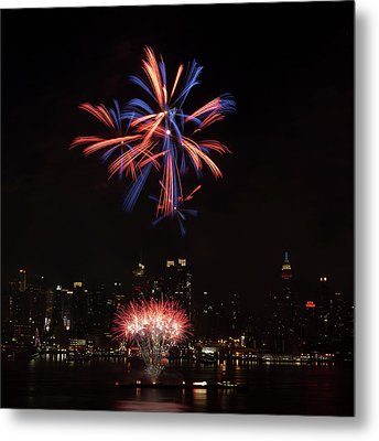 Macy's Fireworks II Metal Print by David Hahn