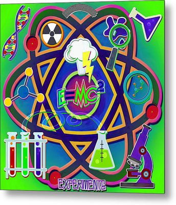 Mad Science Collage Metal Print