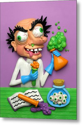 Mad Scientist Metal Print by Amy Vangsgard