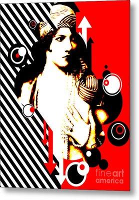 Madam Stripe Metal Print by Chris Andruskiewicz