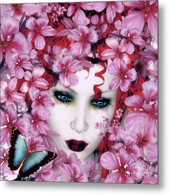Madame Butterfly Metal Print by Shanina Conway