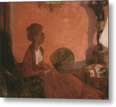 Madame Camus Metal Print by Edgar Degas