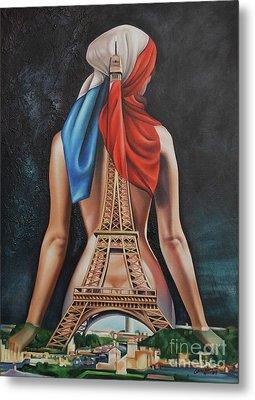 Madame Eiffel Metal Print