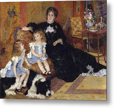 Madame Georges Charpentier And Her Children Metal Print