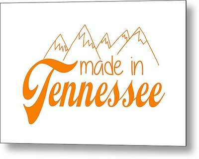 Metal Print featuring the digital art Made In Tennessee Orange by Heather Applegate