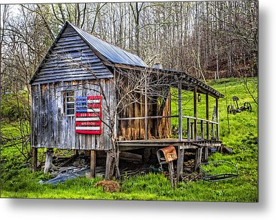 Made In The Usa Metal Print by Debra and Dave Vanderlaan