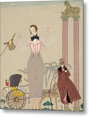 Mademoiselle De Maupin Metal Print by Georges Barbier