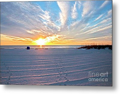 Madera Beach Sunset Metal Print