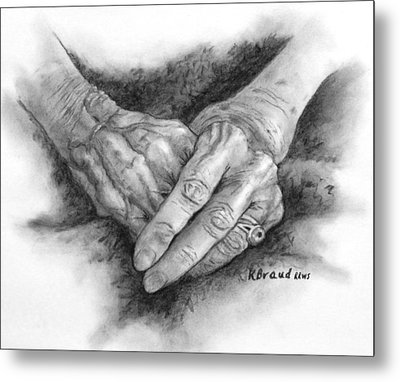 Madges Hands Metal Print
