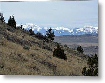 Madison Buffalo Jump State Park In Spring Metal Print by Bruce Gourley