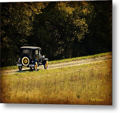 Madison County Back Roads-ford Metal Print