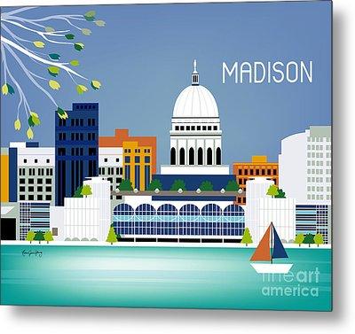 Madison Wisconsin Horizontal Skyline Metal Print