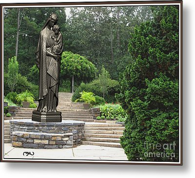 Madonna And Child 2 Metal Print by Pemaro