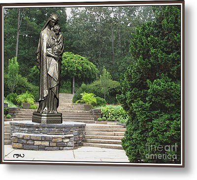 Madonna And Child 4 Metal Print by Pemaro