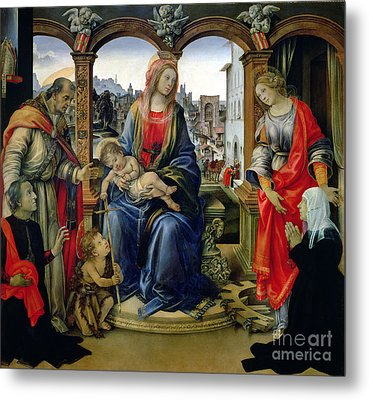 Madonna And Child Metal Print by Filippino Lippi