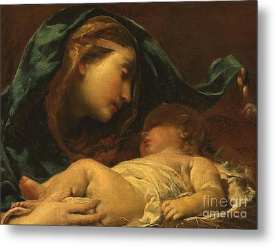 Madonna And Child Metal Print by Giuseppe Maria Crespi