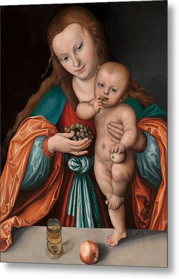 Madonna And Child Metal Print by Mountain Dreams