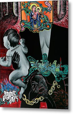 Madonna And Child Metal Print by Yelena Tylkina