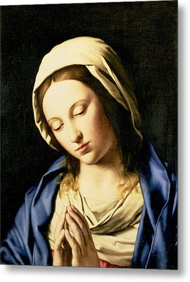 Madonna At Prayer Metal Print by Il Sassoferrato