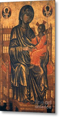 Madonna Icon, 13th Century Metal Print by Granger
