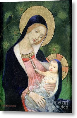 Madonna Of The Fir Tree Metal Print by Marianne Stokes