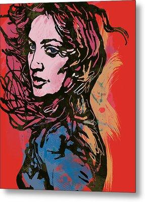 Madonna Pop Stylised Art Sketch Poster Metal Print by Kim Wang