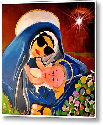 Premadonna With Child Metal Print by Gregory McLaughlin