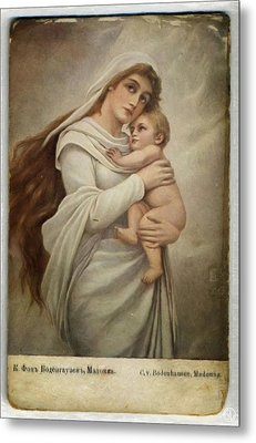 Madonna With Child Metal Print